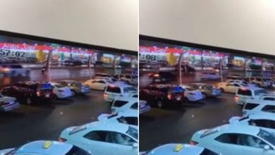 Photo of بالفيديو: حادث دهس مروع لرجل وامرأة أثناء عبورهما الطريق بالرياض