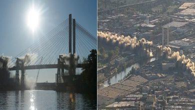 Photo of بالفيديو: لحظة هدم جسر كوزيوسكو الشهير في نيويورك
