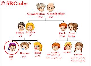 أسماء أفراد العائلة بالانجليزي والعربى بالصور فى شجرة العائلة مجلة رجيم