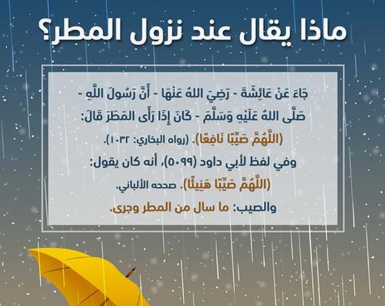 دعاء المطر الدعاء الذى يقال عند المطر مجلة رجيم