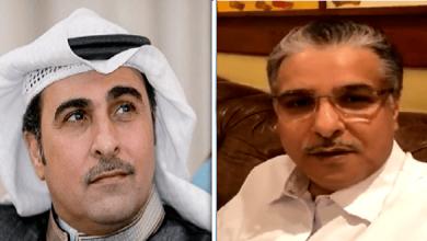 الشاعر خالد المريخي مع الشاعر عبداللطيف آل الشيخ