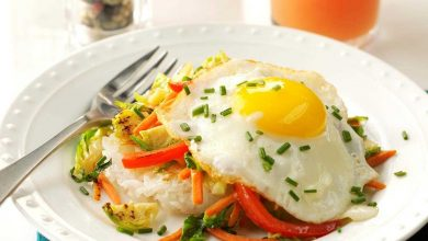 7 وصفات صحية من البيض
