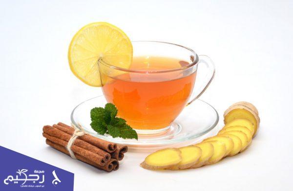 شاي الزنجبيل والليمون والقرفة لحرق الدهون