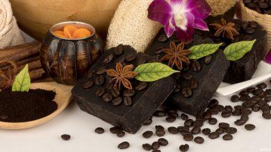 خطوات عمل صابونة القهوة