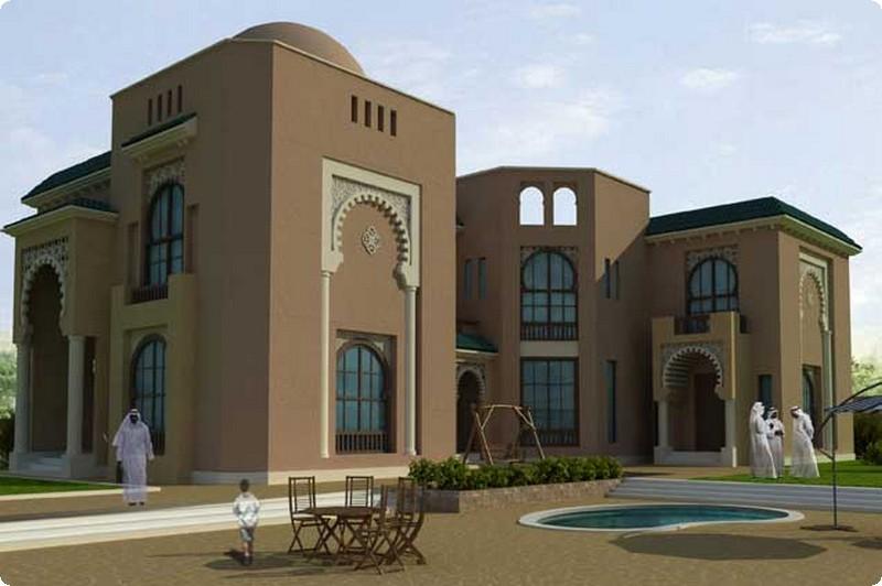 التصاميم الخارجية العربية لواجهات الفلل 17