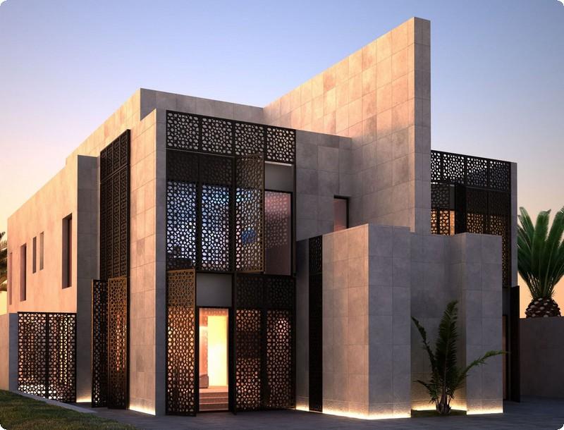 التصاميم الخارجية العربية لواجهات الفلل 20