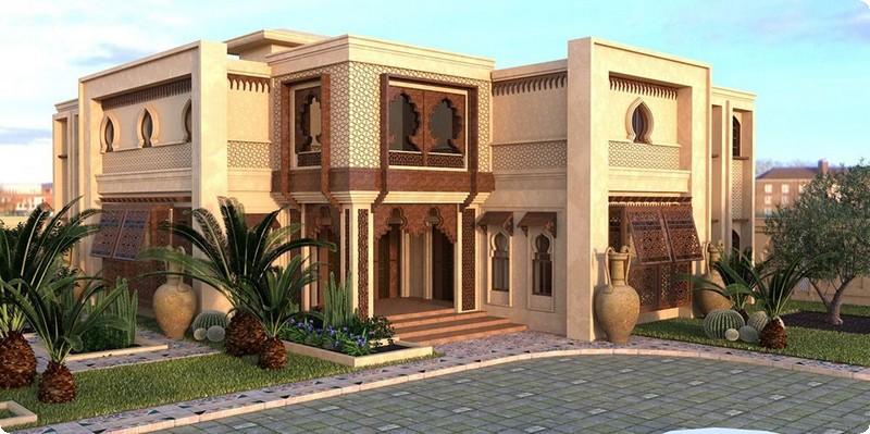 التصاميم الخارجية العربية لواجهات الفلل 22
