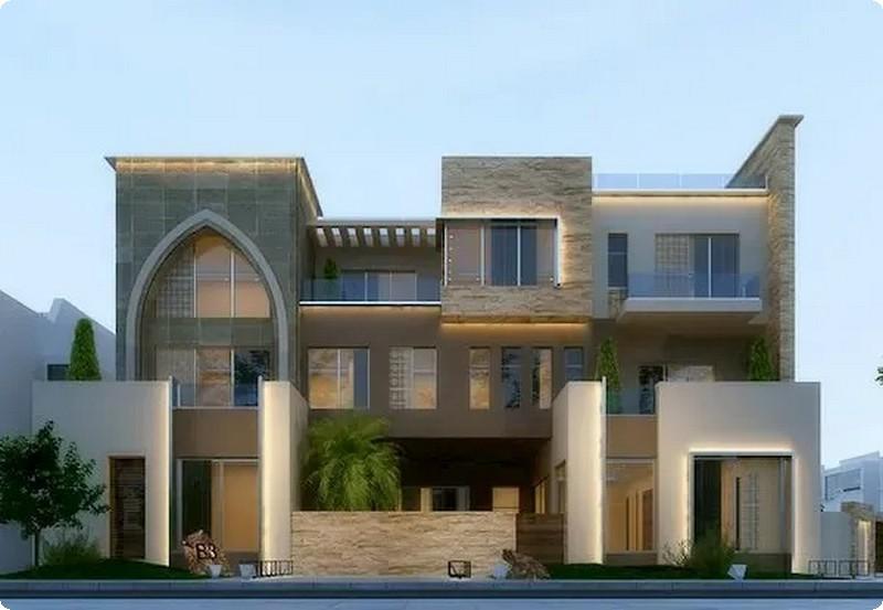 التصاميم الخارجية العربية لواجهات الفلل 5
