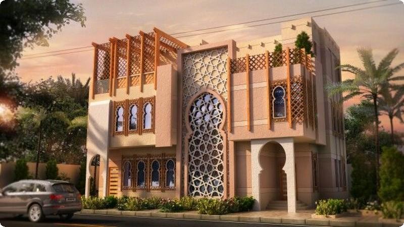 التصاميم الخارجية العربية لواجهات الفلل 9